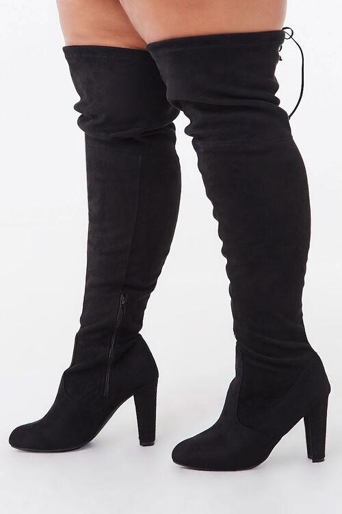 Faux Suede Block Heel Boots (Wide), image 3