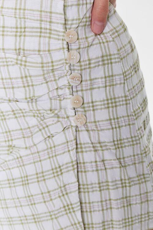 Gingham Button-Front Skort, image 6
