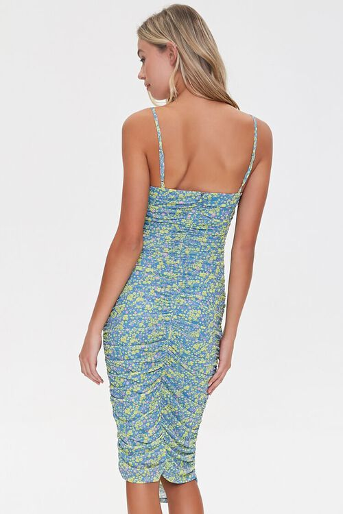 Ruched Floral Bodycon Dress, image 3