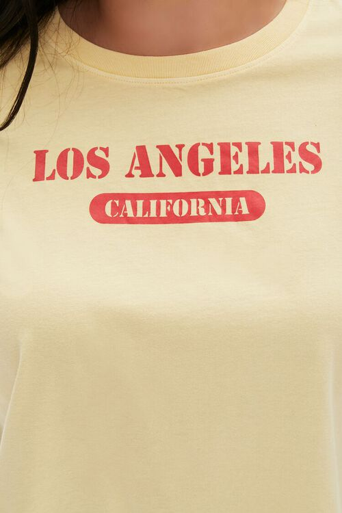 Plus Size Los Angeles Cropped Graphic Tee, image 5
