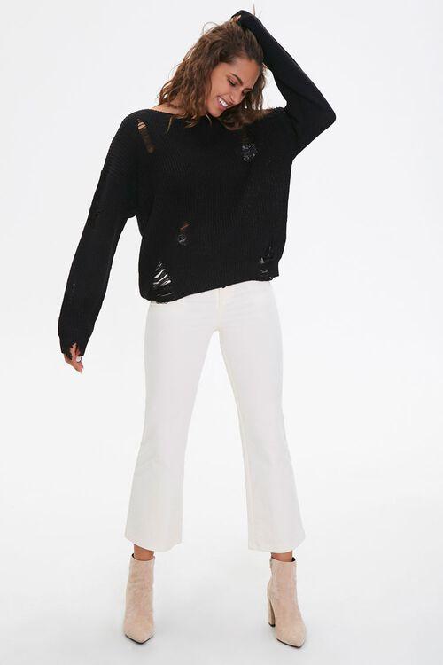 Distressed Drop-Sleeve Sweater, image 4