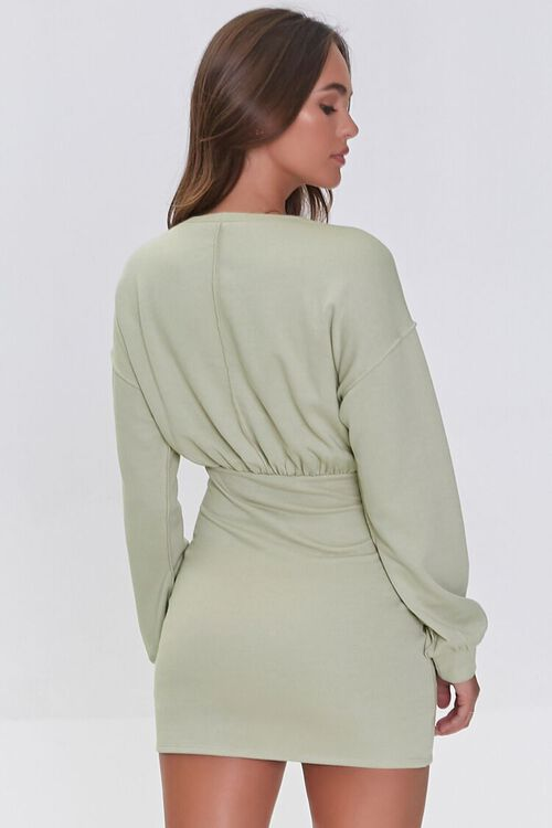 SAND French Terry Mini Dress, image 3