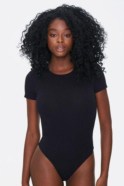 BLACK Cutout Tie-Back Bodysuit, image 6