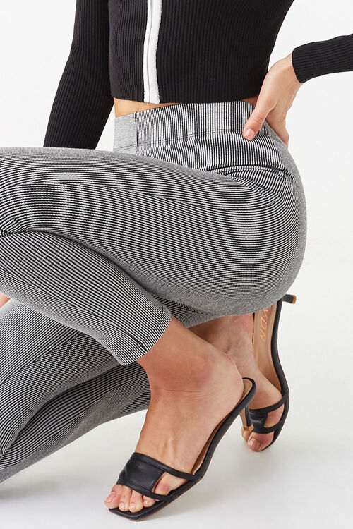 Microplaid Knit Leggings, image 5