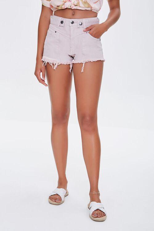 Frayed Twill Shorts, image 2