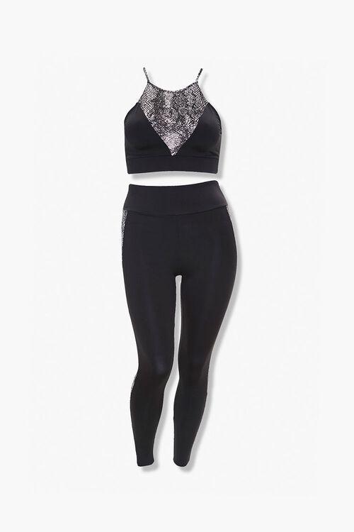 Plus Size Cropped Cami & Leggings Set, image 1