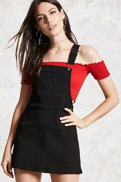 Denim Overall Dress, image 1