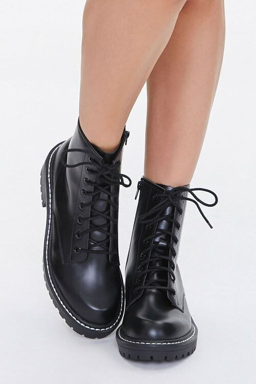 Faux Leather Ankle Boots (Wide), image 4