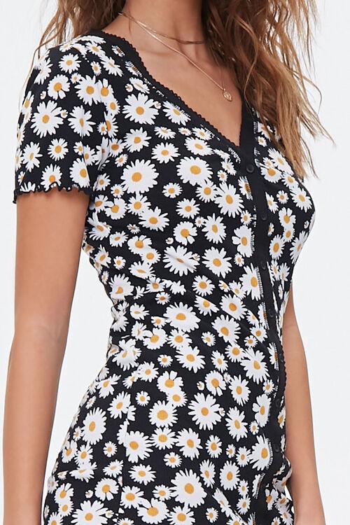 Daisy Print Mini Dress, image 5