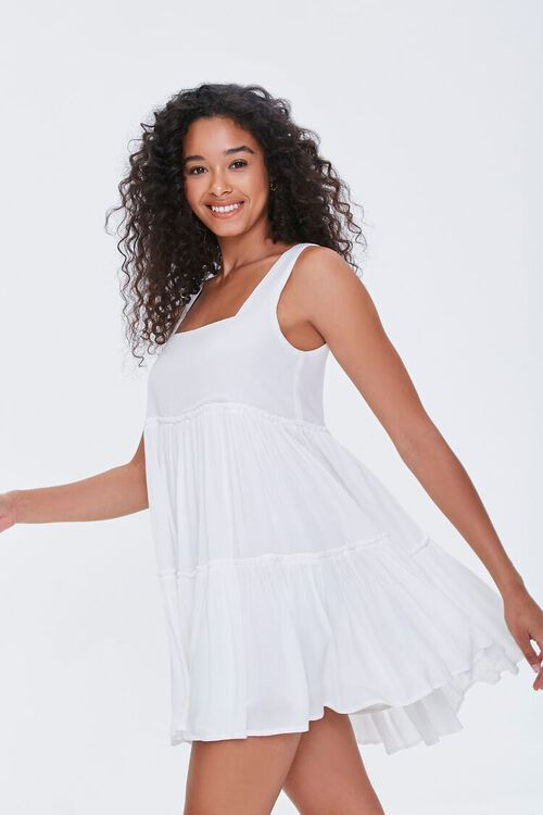 Shirred Tiered Mini Dress, image 2