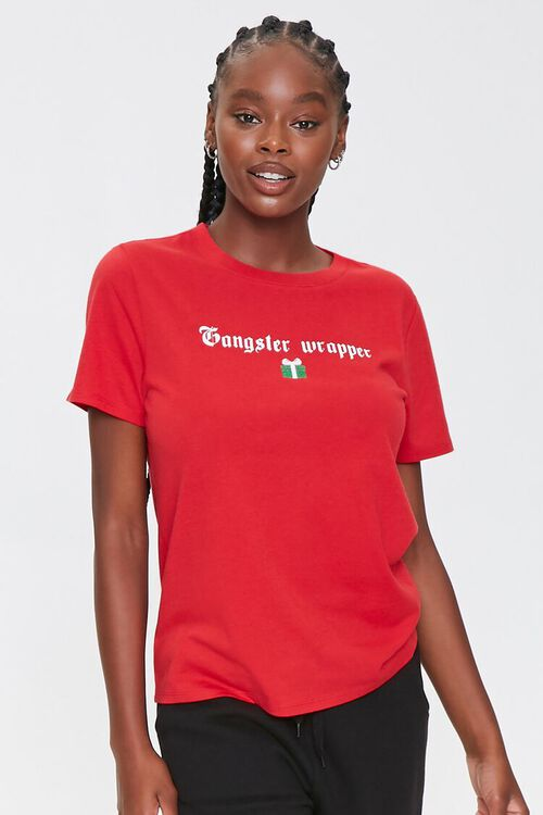 RED/WHITE Gangster Wrapper Tee, image 1