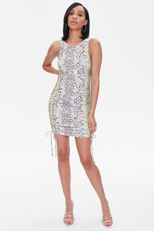 Snake Print Mini Dress, image 4