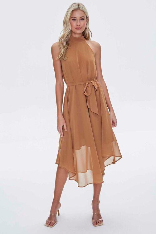 Mock Neck Tie-Waist Dress, image 4