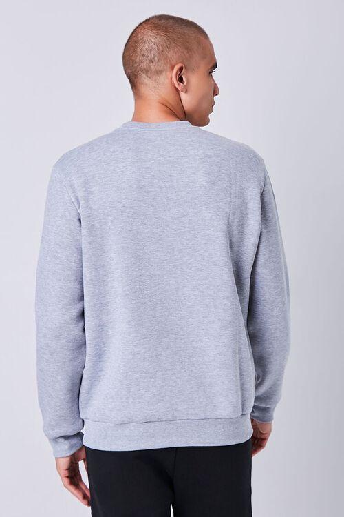 Heathered Fleece Crew Neck Sweatshirt, image 3