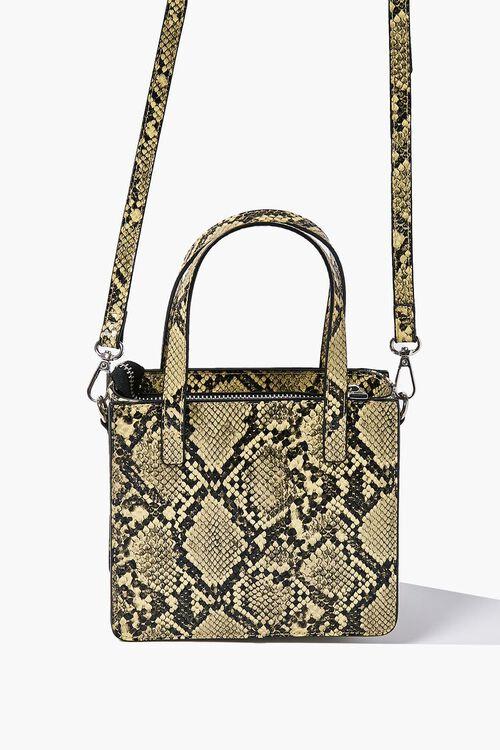 Faux Snakeskin Tote Bag, image 3