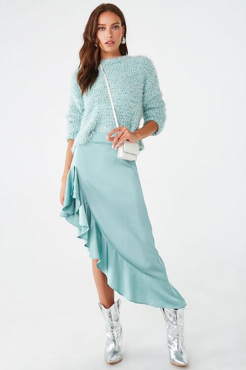 Satin Ruffled High-Low Skirt, image 5