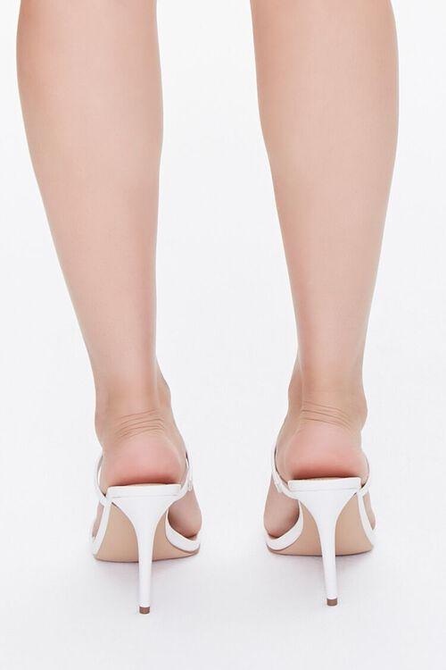 WHITE Faux Croc Slip-On Heels, image 3