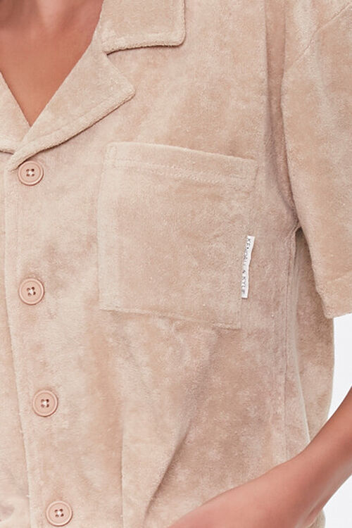 Kendall & Kylie Terrycloth Notched Shirt, image 6