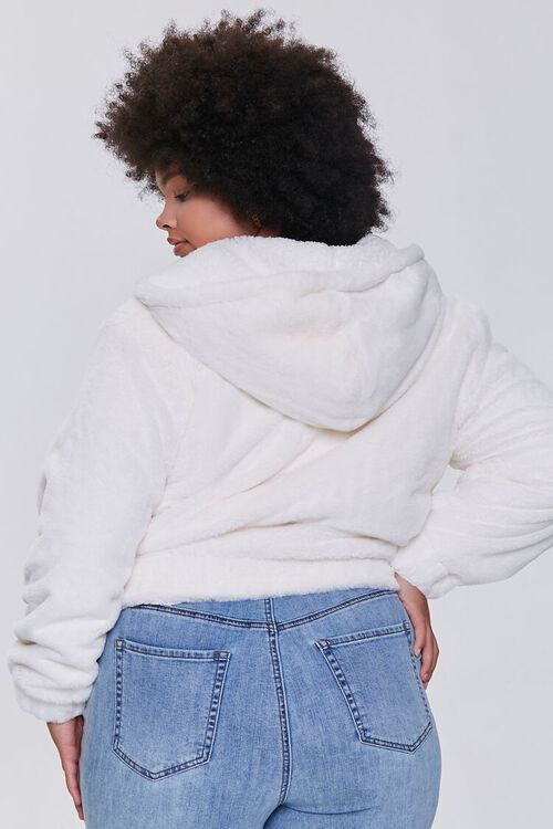 CREAM Plus Size Plush Pull-Ring Hoodie, image 3