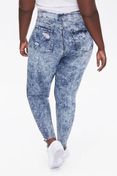 Plus Size Bleached Skinny Jeans, image 4