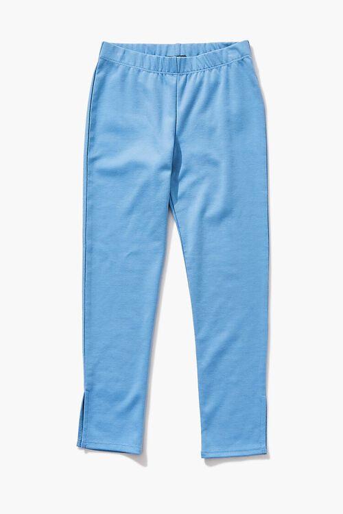 BLUE Girls Split-Hem Leggings (Kids), image 1