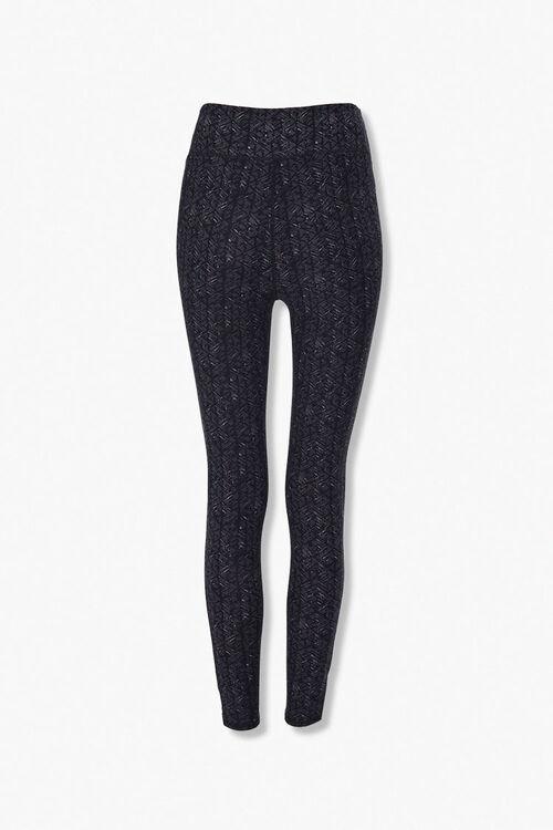 BLACK/CHARCOAL Marled Knit Geo Leggings, image 3