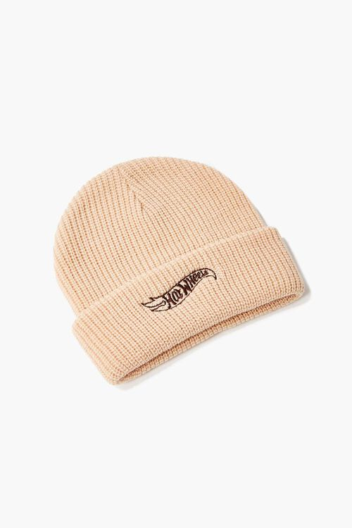 TAN/BROWN Reina Embroidered Beanie, image 1