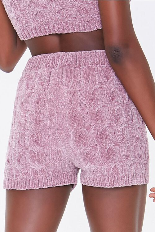 Sweater-Knit Chenille Shorts, image 4