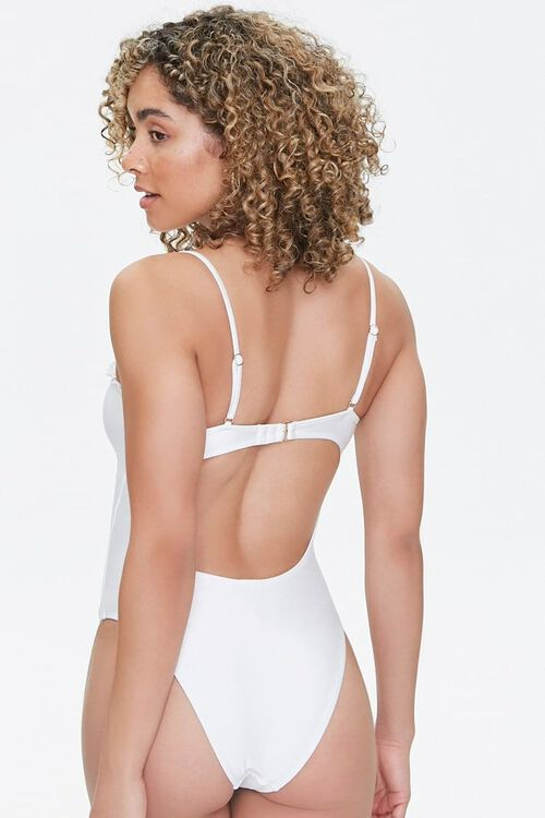 Drawstring Cutout One-Piece Swimsuit, image 3