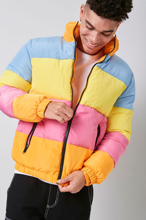 Colorblock Puffer Jacket, image 1