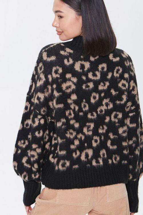 Fuzzy Leopard Print Sweater, image 3
