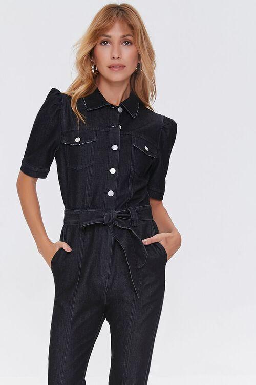 Denim Button-Up Jumpsuit, image 4