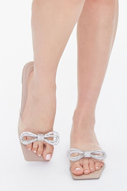 Clear-Strap Bow Sandals, image 4