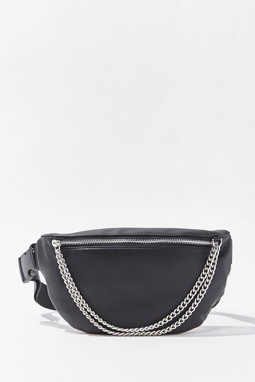 Curb Chain Zip-Up Fanny Pack, image 1