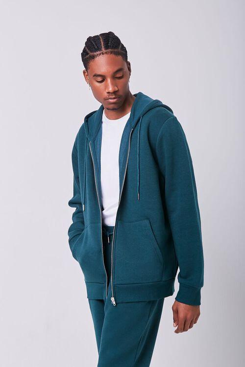 GREEN Fleece Zip-Up Hoodie, image 1