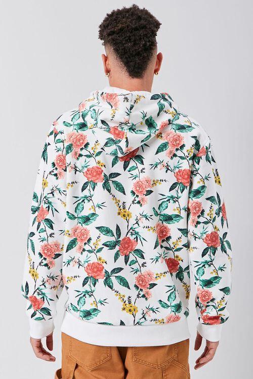 Floral Print Fleece Hoodie, image 3