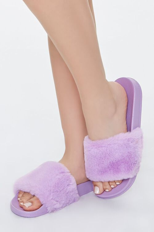 Faux Fur Slippers, image 1