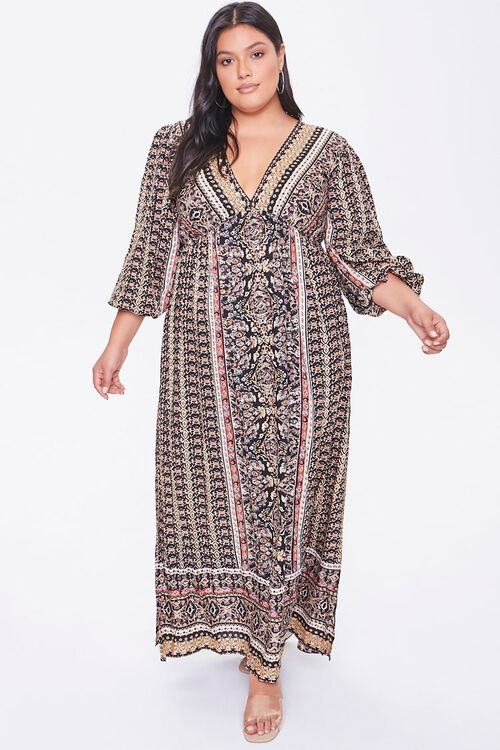 Plus Size Ornate Maxi Dress, image 4
