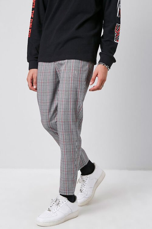 Plaid Woven Trousers, image 1
