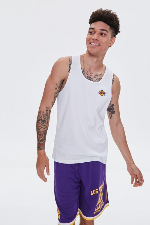LA Lakers Embroidered Graphic Tank Top, image 6