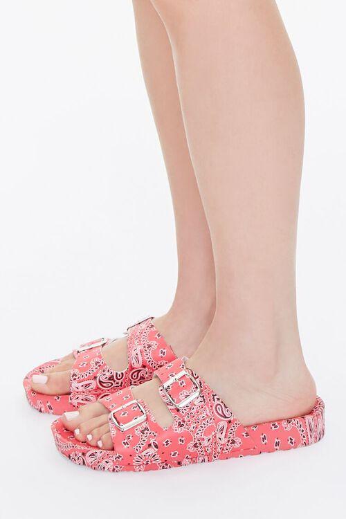 Bandana Print Buckled Flatform Sandals, image 2