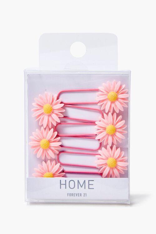 PINK/MULTI Flower Charm Paper Clip Set, image 2