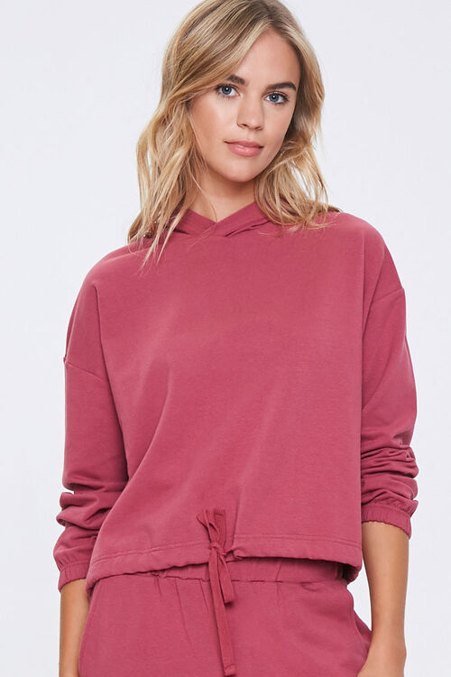 Hooded French Terry Top, image 1
