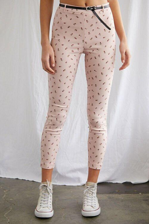 Belted Floral Ankle Pants, image 2
