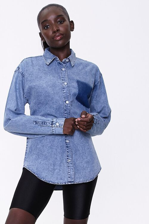 Mineral Wash Denim Shirt, image 1