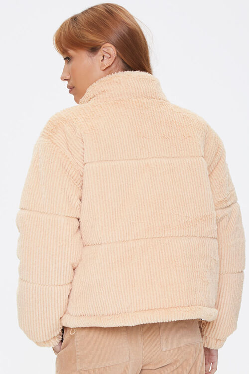 Plush Quilted Puffer Jacket, image 3