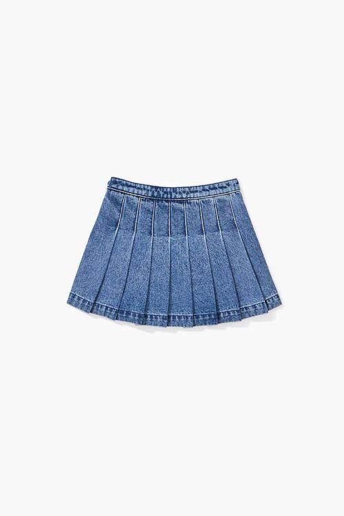 Girls Pleated Denim Skirt (Kids), image 2