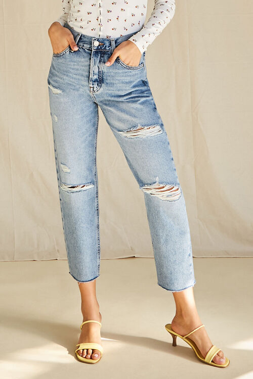 Distressed High-Rise Jeans, image 2