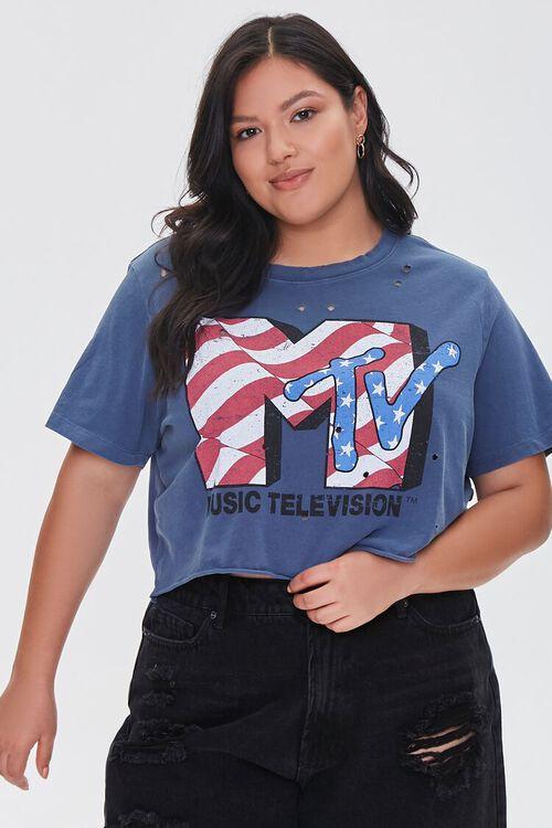 Plus Size MTV Graphic Tee, image 1