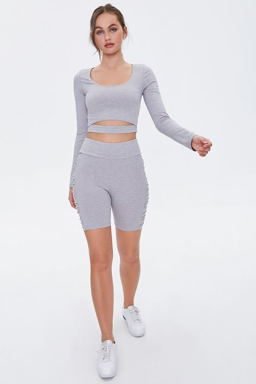 Active Ruched Bike Shorts, image 5